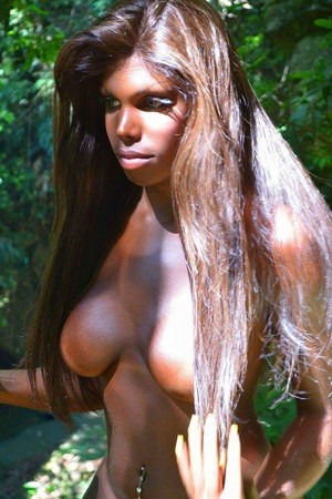 Preop Ebony Brazilian Transsexual Escort